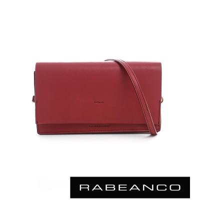 RABEANCO 迷時尚系列多夾層小方包 -石榴紅