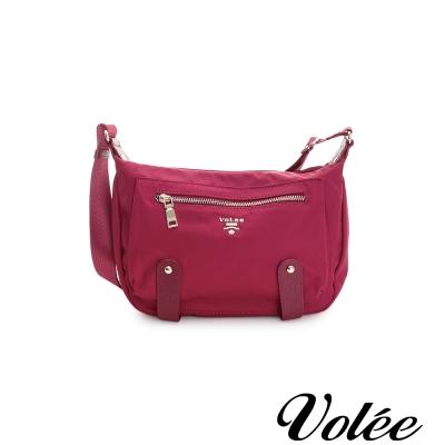 Volee飛行包 - 趣旅行經典飾帶斜背包 美國紅