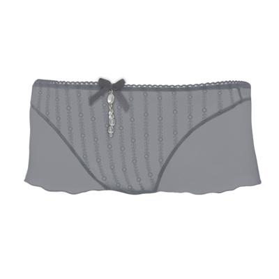 曼黛瑪璉-深我-超低腰平口蕾絲褲-璀璨灰