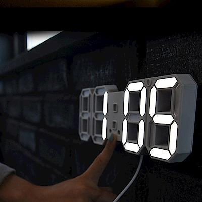 3D LED立體數字鐘(小款) 溫度/日期 電子鬧鐘