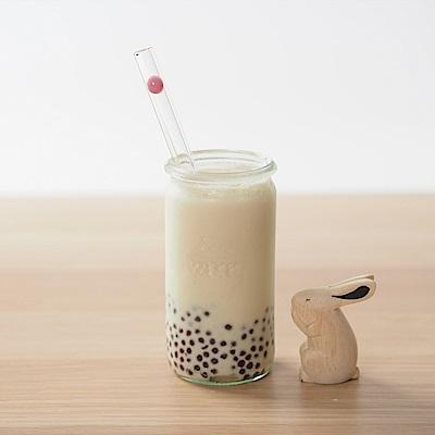 美國strawesome手工玻璃吸管/寬口直式-泡泡糖粉