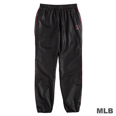 MLB-紐約洋基隊LOGO印花運動風衣長褲-黑 (女)