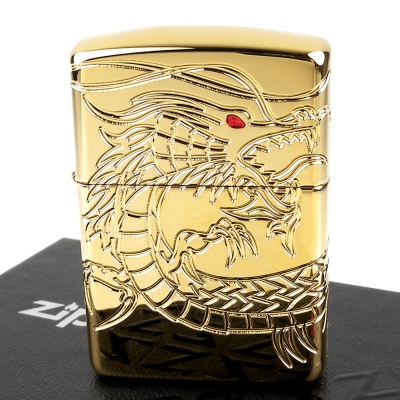【ZIPPO】美系~Dragon-龍紋深刻鍍金打火機