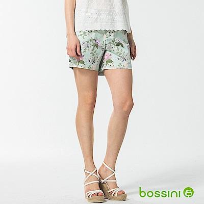bossini女裝-休閒印花短褲01薄荷綠