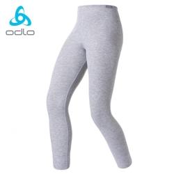 【瑞士 ODLO】effect 兒童.女頂極機能型銀離子保暖長褲.刷毛褲/深麻灰