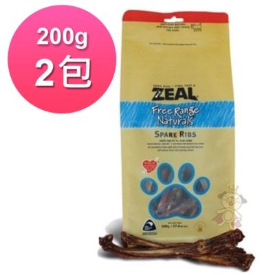 岦歐ZEAL紐西蘭天然寵物食品 牛肋排 200g (2包)