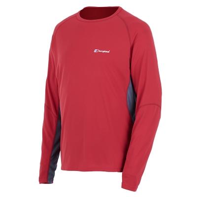 【Berghaus 貝豪斯】男款銀離子圓領衫S15M04-紅