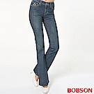 BOBSON 女款低腰小喇叭褲