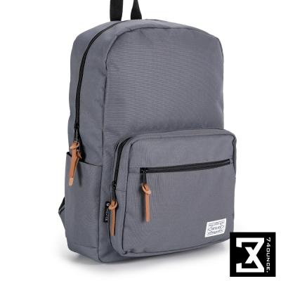 74盎司 韓版尼龍素色硬挺後背包(15吋)[TG-065]灰