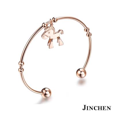 JINCHEN 白鋼小木馬手環