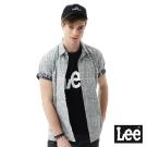 Lee 植物印花短袖襯衫/RG-男款-淺灰色