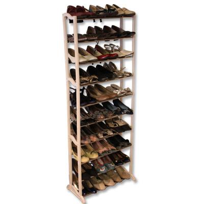 《購得樂》十層開放式不鏽鋼鞋架