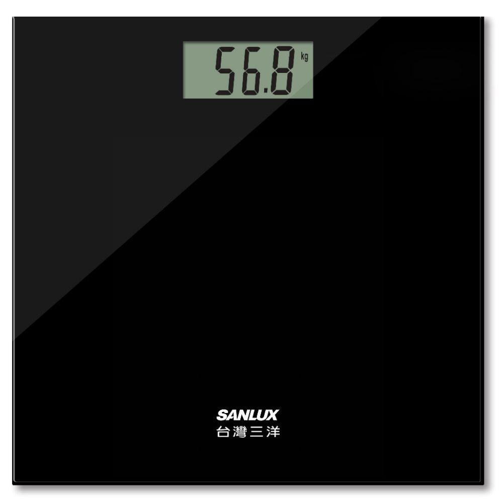 台灣三洋 SANLUX 數位家用體重計 體重機 SYES-301 黑色/白色