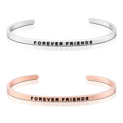 MANTRABAND Forever Friends 一輩子的好朋友 銀X玫瑰金 手環組