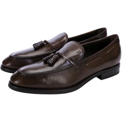 TOD'S 牛皮流蘇樂福鞋(男款/深咖啡色)