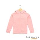 GIORDANO 童裝G-MOTION連帽休閒運動外套 - 28 雪花薄紗粉紅