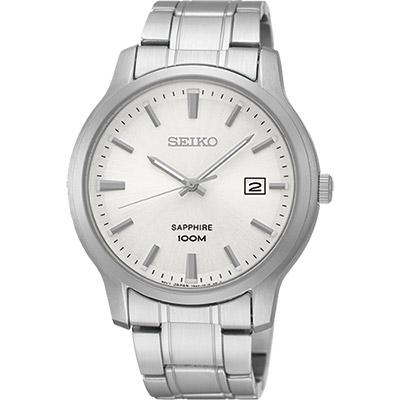 SEIKO CS系列大三針石英錶(SGEH39P1)-銀/41mm