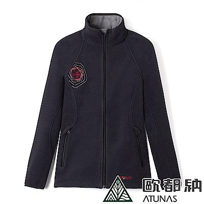 【ATUNAS 歐都納】女款WINDSTOPPER風衣保暖外套A1-G1167W黑