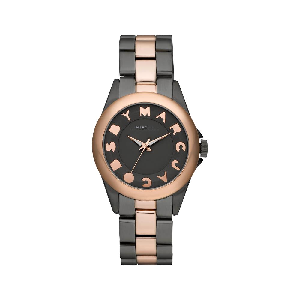 Marc Jacobs 閃電玩家復刻腕錶-黑灰/玫塊金/35mm
