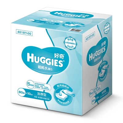 好奇純水嬰兒濕巾-厚型(80抽x10包/箱)