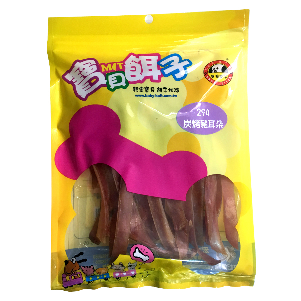 寶貝餌子 碳烤豬耳朵 (120g×4包)