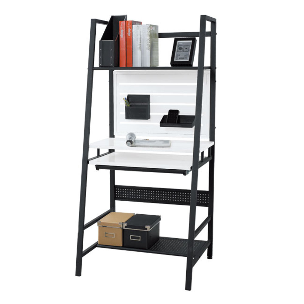 居家生活   狄洛思2.3尺白色專利電腦桌