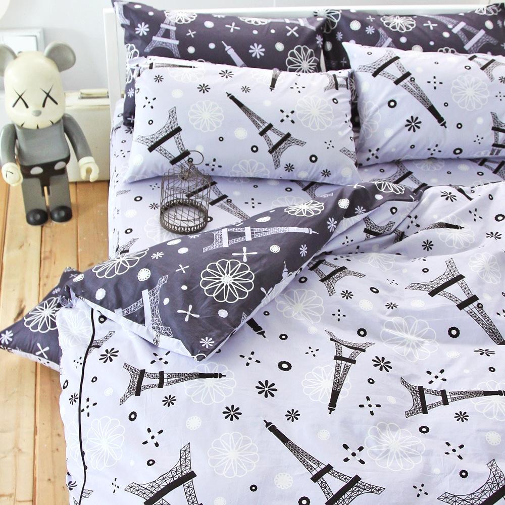 OLIVIA 巴黎晴空 雙人四件式兩用被全舖棉床包組 台灣製