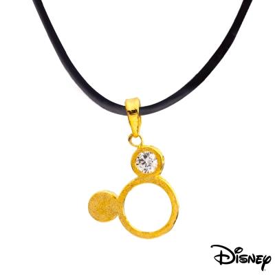 Disney迪士尼金飾 米奇黃金墜子 送項鍊