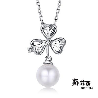 蘇菲亞 SOPHIA - 酢醬草造型珍珠項鍊