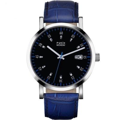 NO Monday 12 Windows系列設計師錶-藍/43mm