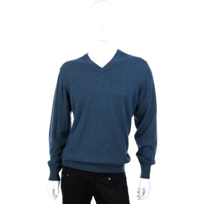 Andre Maurice 灰綠色羊毛V領長袖毛衣(100% CASHMERE)