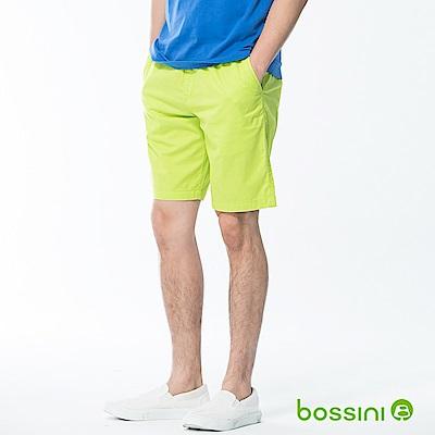 bossini男裝-素色輕便短褲01蘋果綠