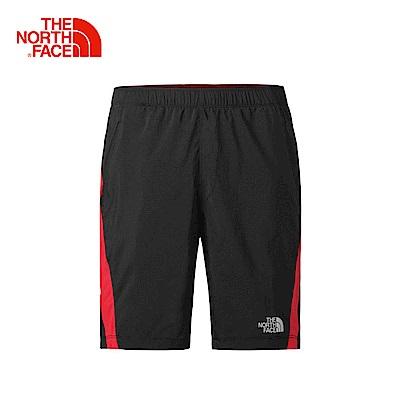 The North Face北面男款黑色舒適防潑水戶外短褲