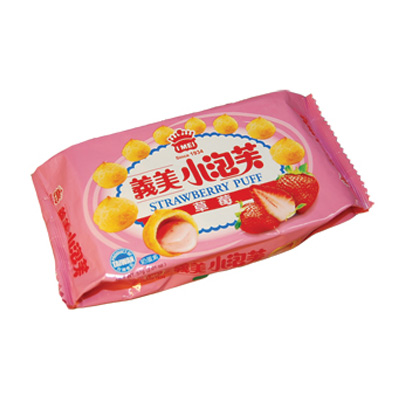 義美-草莓小泡芙-57g-x12包
