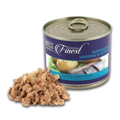 【海洋之星FISH4DOGS】挪威鯡魚馬鈴薯主食犬罐、185g、一罐