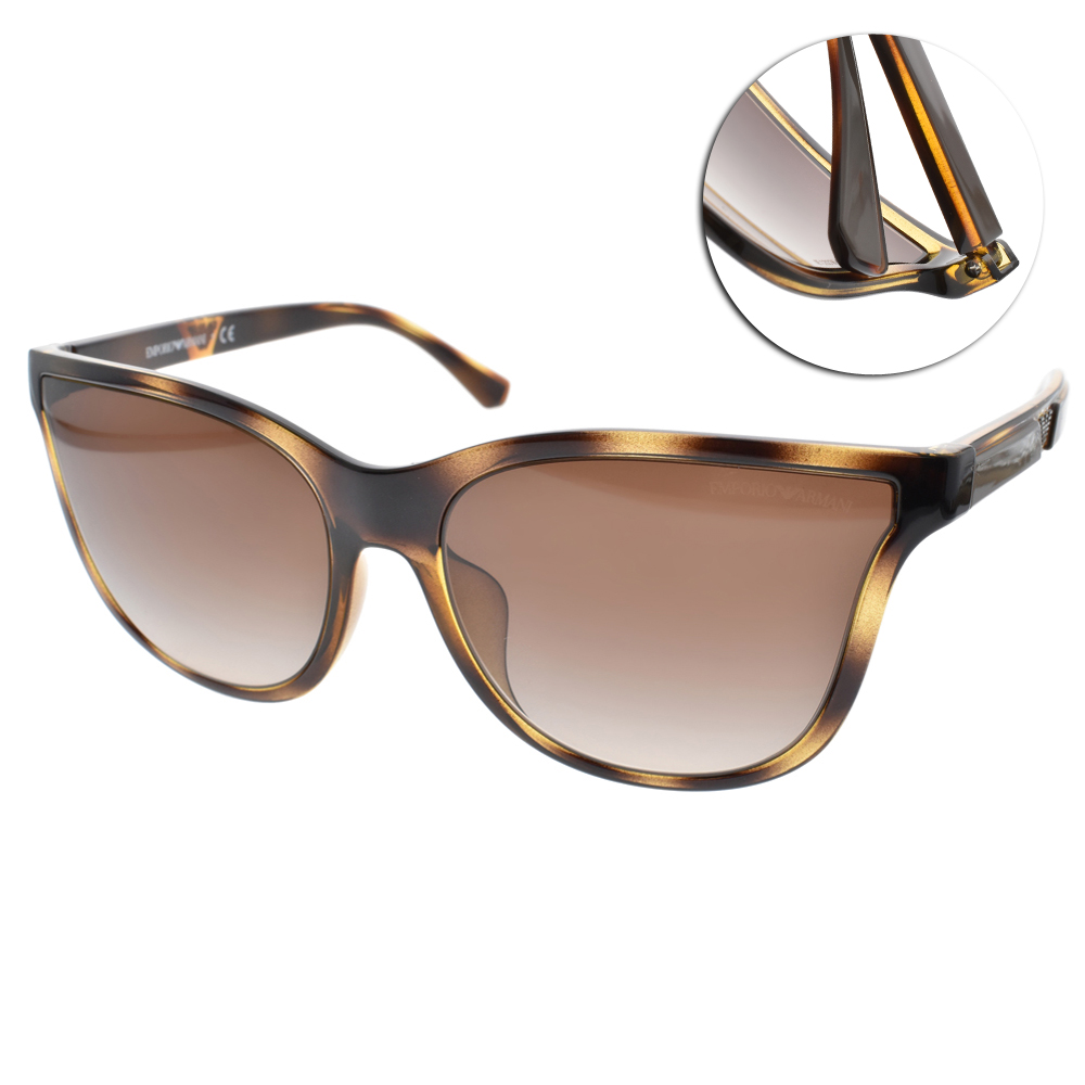 EMPORIO ARMANI太陽眼鏡 個性微貓眼/琥珀#EA4112 502613