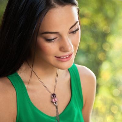 Angemiel安婕米 義大利珠飾 925純銀項鍊+串珠