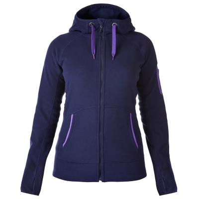 【Berghaus 貝豪斯】女款連帽刷毛保暖外套H22F24-藍