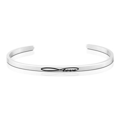 MANTRABAND Infinite Love 永恆的愛 悄悄話銀色手環