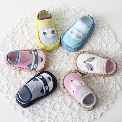 可愛動物系列 皮底 兒童防滑地板襪學步鞋 買一送一 (共6款)