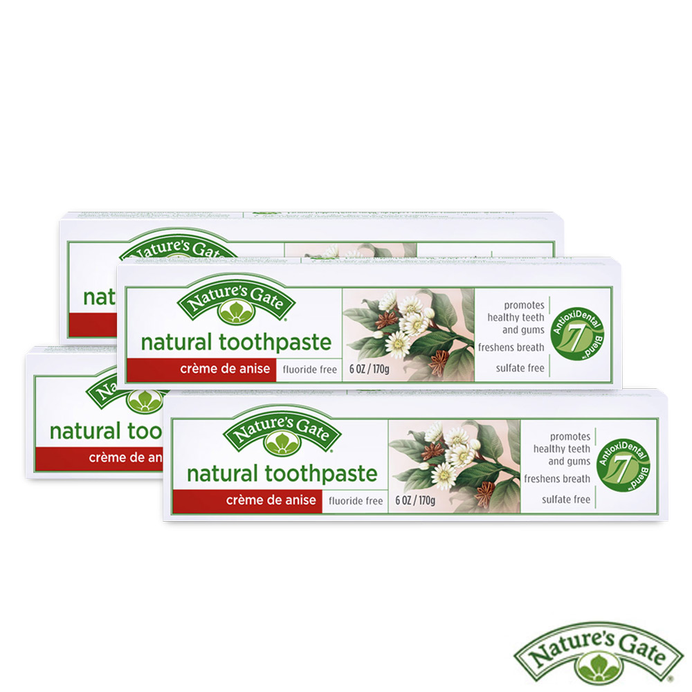 Nature's Gate 經典洋茴香植萃健康潔牙膏買3送1!