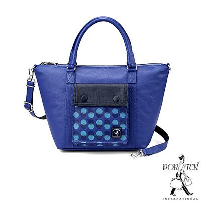 PORTER - 奇幻樂園 WONDER LAND復古手提兩用包 - 藍紫
