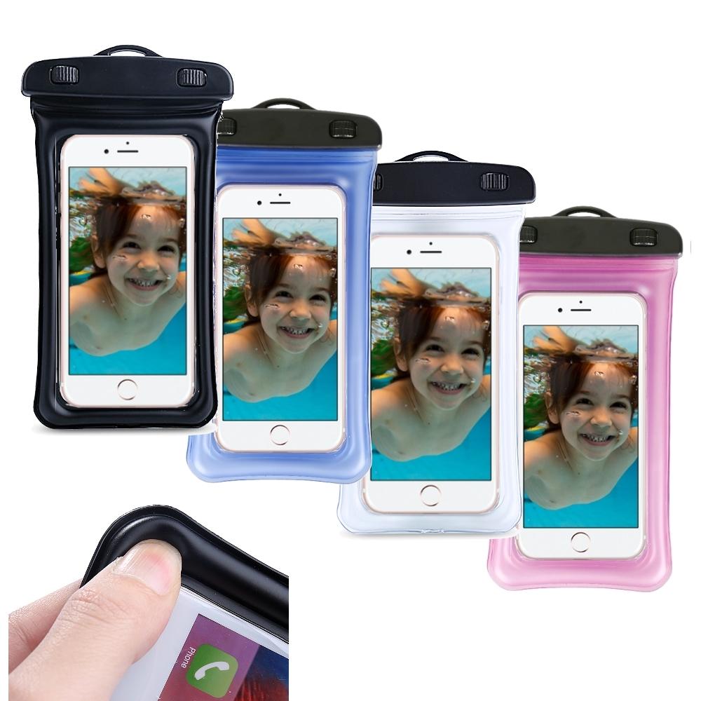 DataStone手機氣囊防水袋/全透明可觸控(氣囊防震型)適6吋以下手機