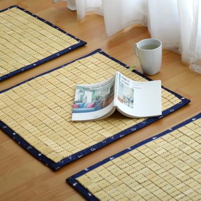 絲薇諾 日風3D透氣包邊專利麻將竹坐墊(藍色邊/單人座52×50cm)