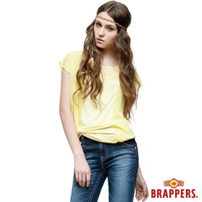 BRAPPERS 女款 兩件式雪紡短袖上衣-黃
