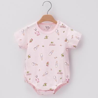 奇哥-可愛兔短袖包屁衣-粉色-3-24個月