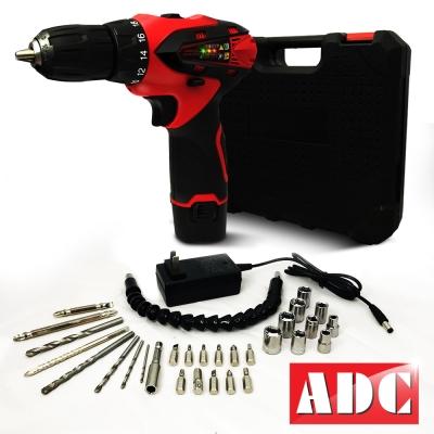 ADC艾德龍12V鋰電18段雙速電動鑽豪華全配組(JOZ-LS-12ED)
