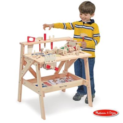 美國瑪莉莎 Melissa & Doug 益智 - 木製大型工具台 + 益智工具組