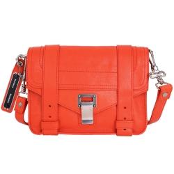 PROENZA SCHOULER PS1 Mini Pouch 銀釦山羊皮革斜背包(橘紅)
