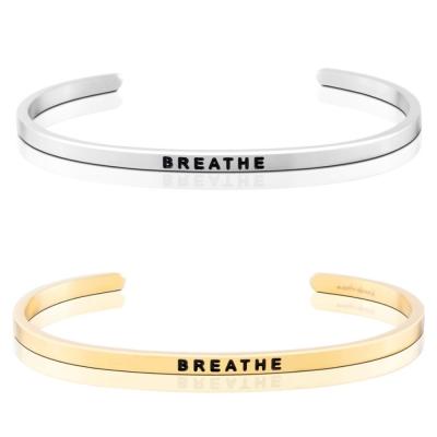 MANTRABAND Breathe 慢慢呼吸 銀X金 手環組